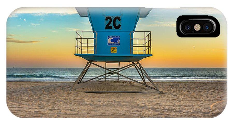 Coronado IPhone X Case featuring the photograph Coronado Beach Lifeguard Tower At Sunset by James Udall