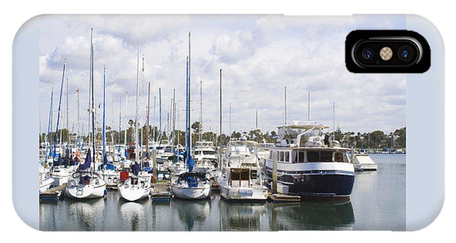Coronado IPhone X Case featuring the photograph Coronado Boats II by Margie Wildblood
