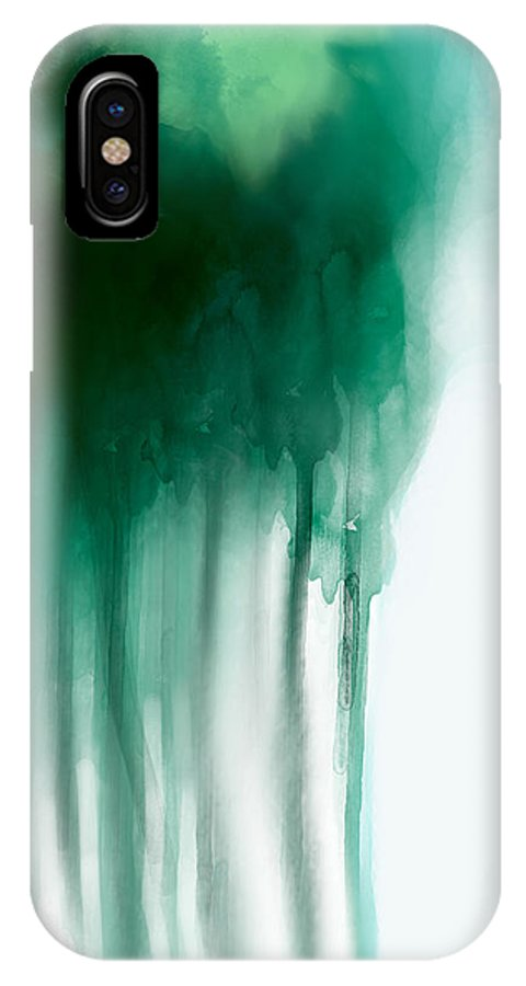 Abstract IPhone X Case featuring the painting Corpse by Lindsey Cormier