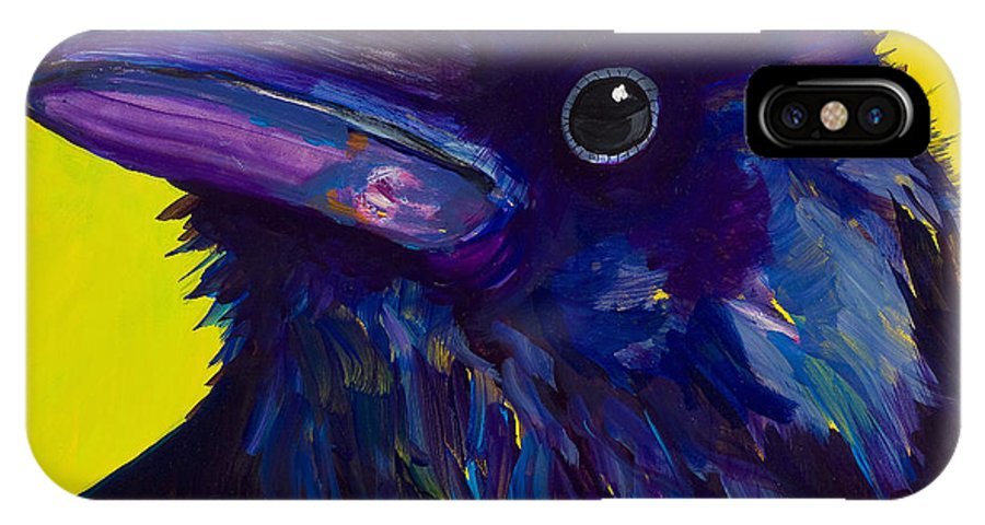 Bird IPhone Case featuring the painting Corvus by Pat Saunders-White