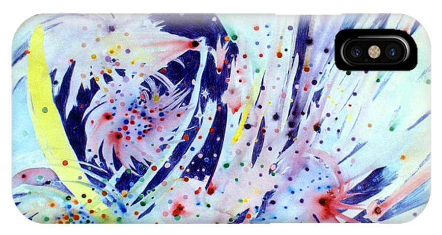 Abstract IPhone Case featuring the painting Cosmic Candy by Steve Karol