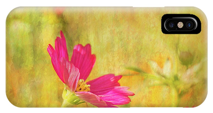 Pink Cosmos IPhone X Case featuring the photograph Cosmos Art I by Mary Bellew