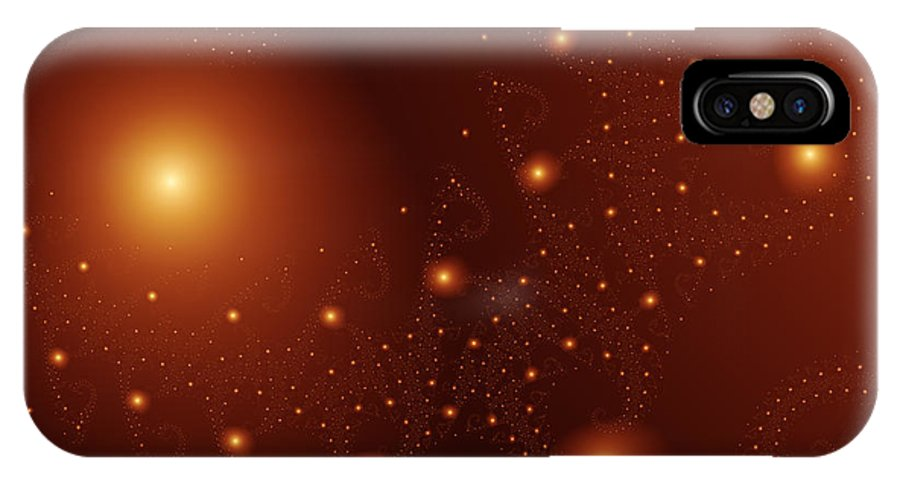 Fractal IPhone X Case featuring the digital art Cosmos by Vicky Brago-Mitchell