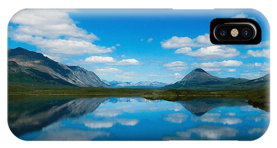 Beauty Spot IPhone X Case featuring the digital art Cottage At Lake by Max Steinwald