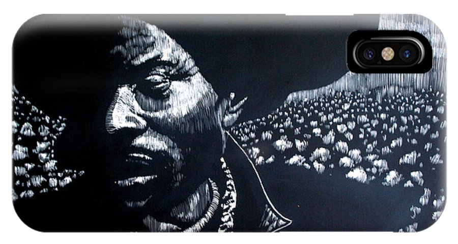 IPhone X Case featuring the mixed media Cotton The Fabric Of Our Lives by Chester Elmore