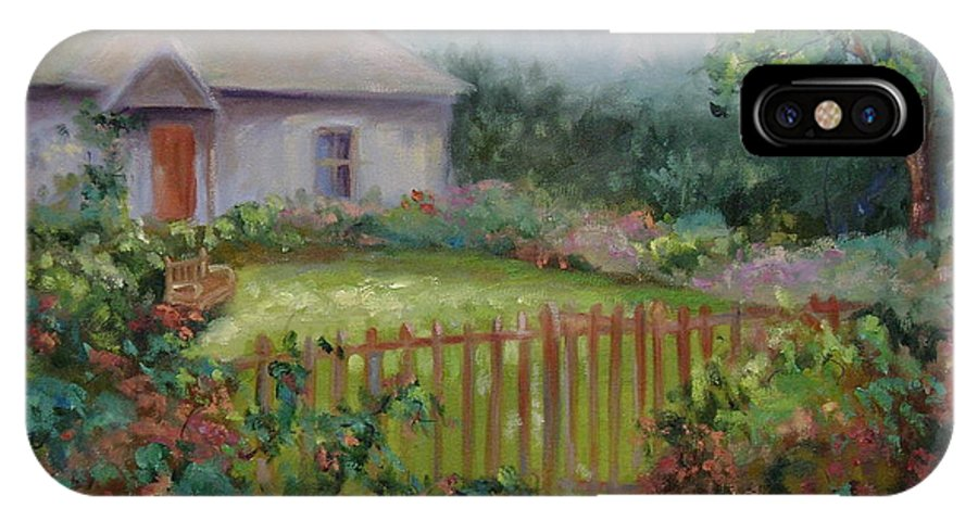 Cottswold IPhone X Case featuring the painting Cottswold Cottage by Ginger Concepcion