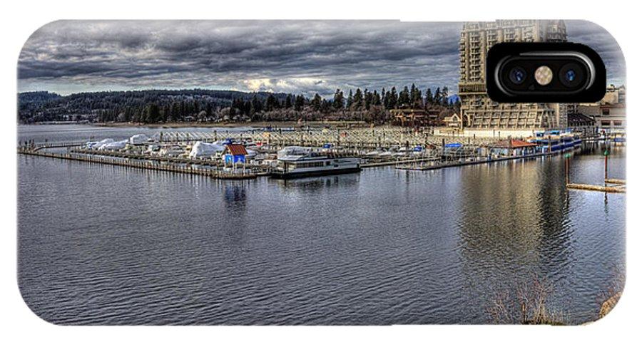 Landscape IPhone X Case featuring the photograph Couer d'Alene Resort 3 by Lee Santa