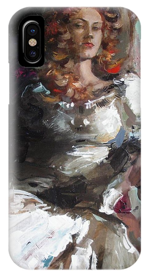 Ignatenko IPhone X Case featuring the painting Countess by Sergey Ignatenko