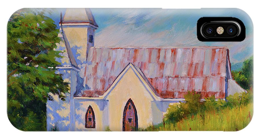 Impressionism IPhone X Case featuring the painting Country Church by Keith Burgess