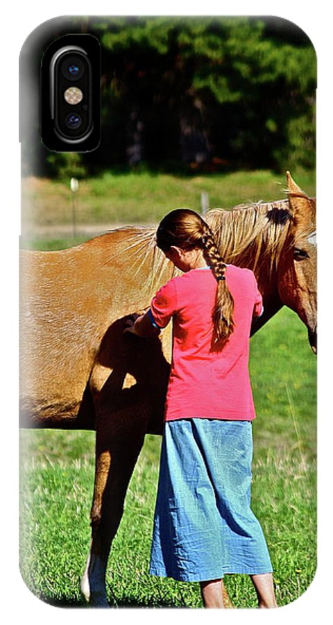 Girl IPhone X Case featuring the photograph Country Girl by Diana Hatcher
