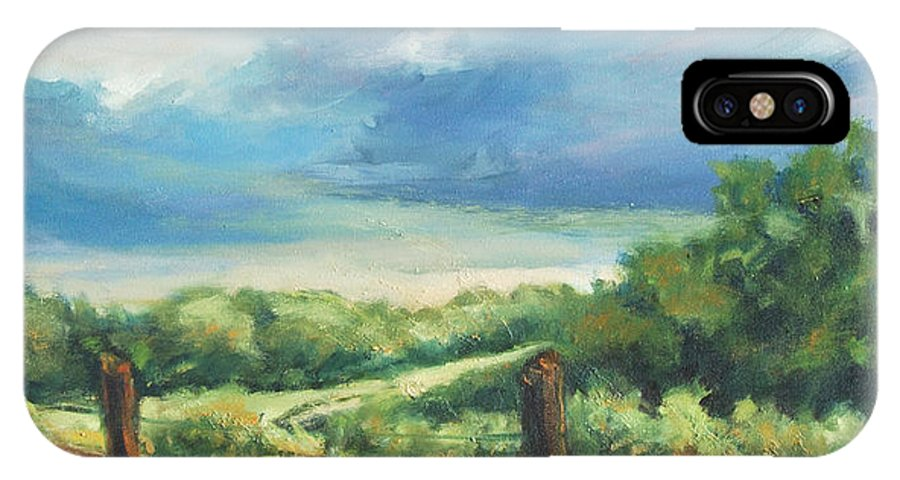 Clouds IPhone Case featuring the painting Country Road by Rick Nederlof