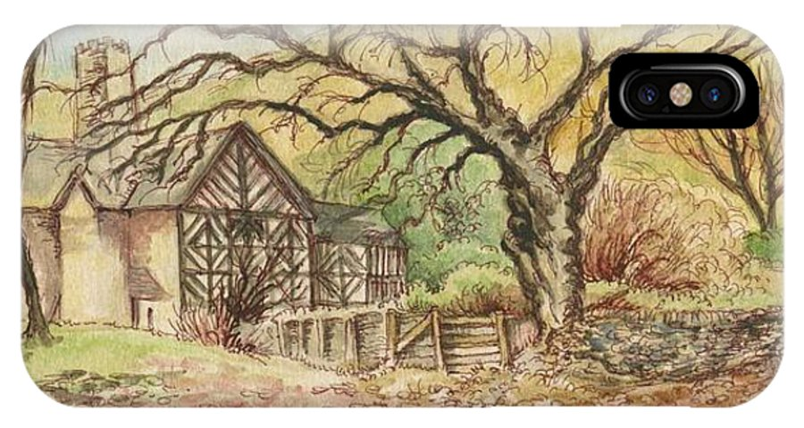 Art IPhone X Case featuring the painting Country Scene collection by Morgan Fitzsimons
