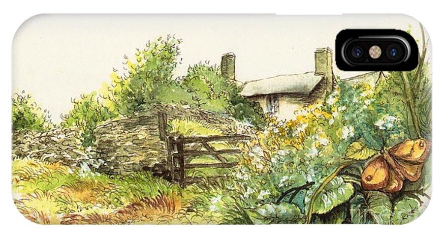 Countryside IPhone X Case featuring the painting Countryside by Morgan Fitzsimons