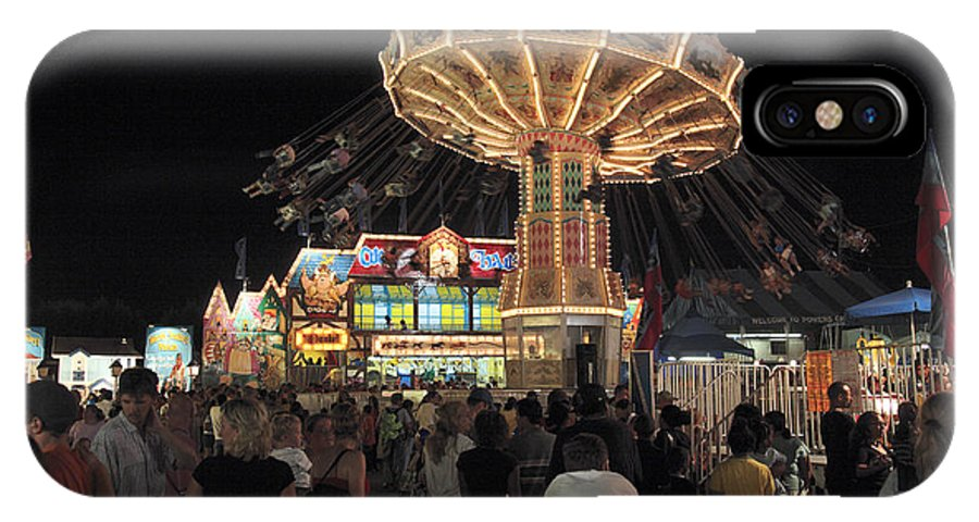 County Fair IPhone X / XS Case featuring the photograph County Fair At Night by William Kuta
