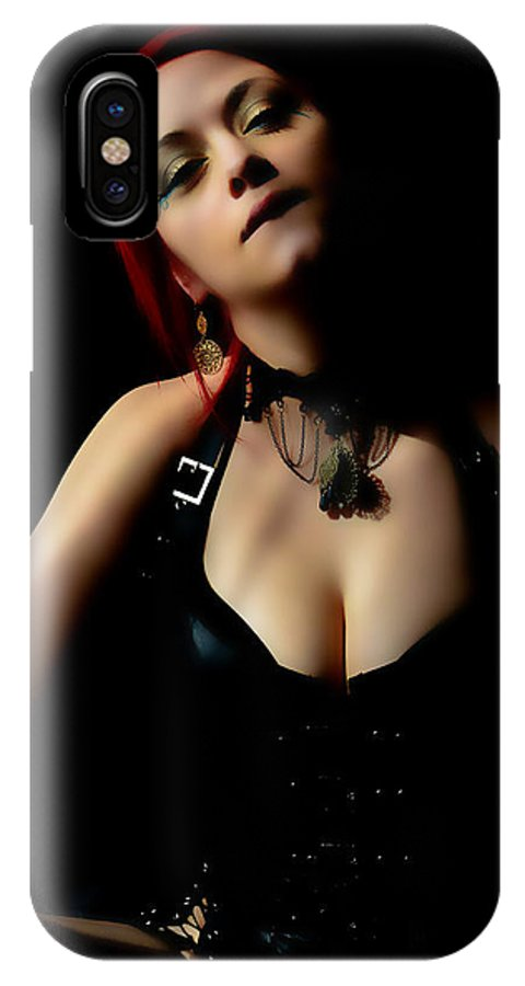 Face Body Shot IPhone X Case featuring the photograph Courtney Seduces by Bill Munster