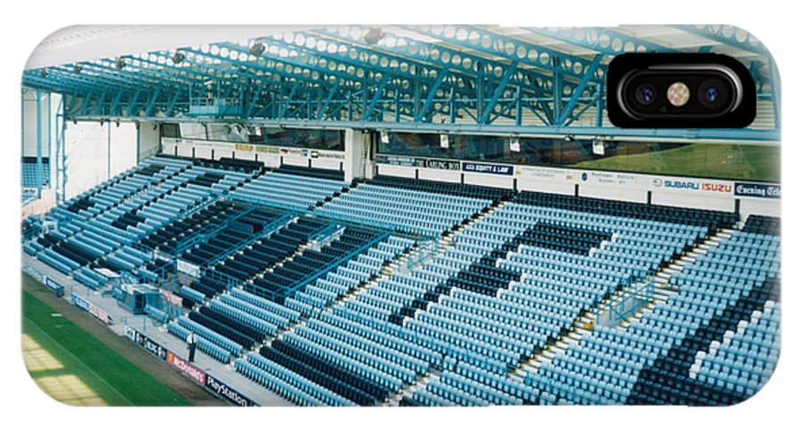 Coventry City IPhone X Case featuring the photograph Coventry City - Highfield Road - South Side Main Stand 3 - August 1997 by Legendary Football Grounds