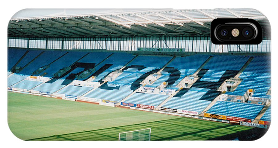 Coventry City IPhone X Case featuring the photograph Coventry City - Ricoh Arena - East Stand 1 - July 2006 by Legendary Football Grounds