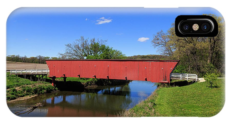 Bridge IPhone X / XS Case featuring the photograph Covered Bridge And Reflection by Terri Morris