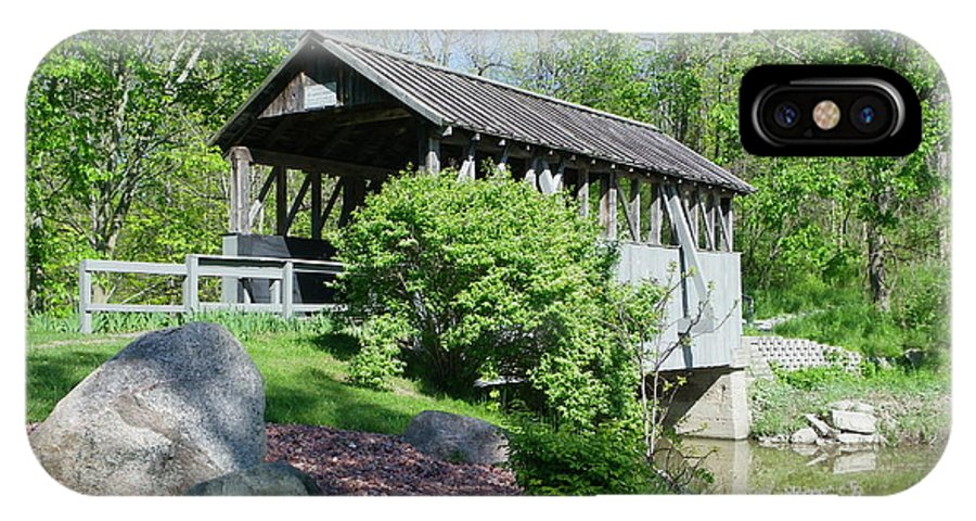 Bridge IPhone X Case featuring the photograph Covered Bridge by Peggy King