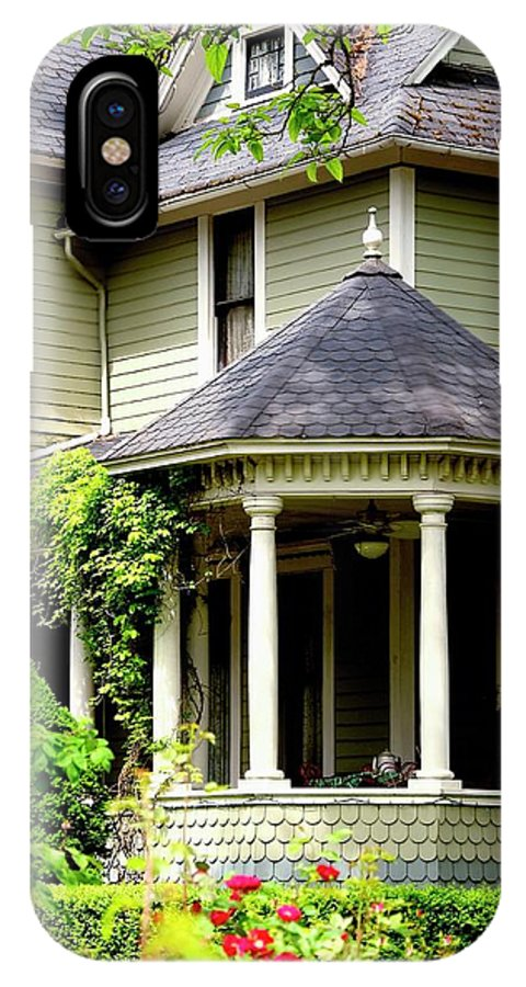 Jerry IPhone X / XS Case featuring the photograph Covered Porch by Jerry Sodorff
