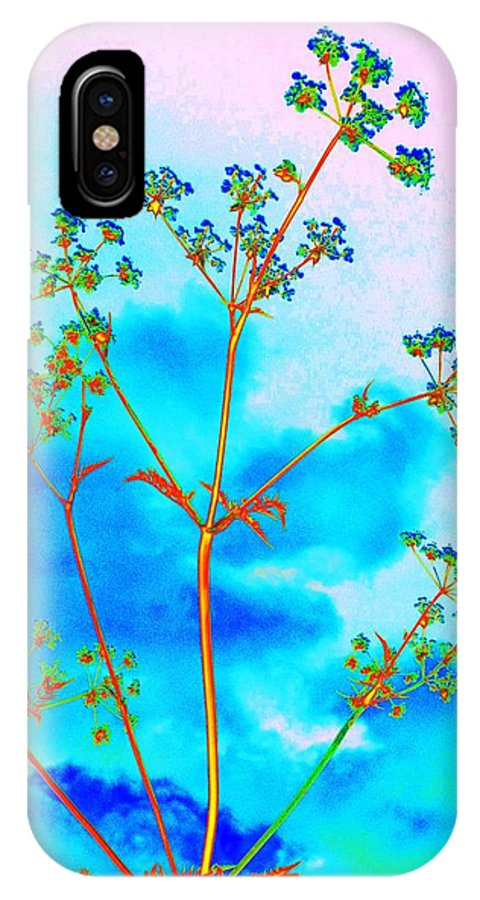 Cow Parsley Blossom 2 IPhone X Case featuring the digital art Cow Parsley Blossom 2 by Martine Murphy