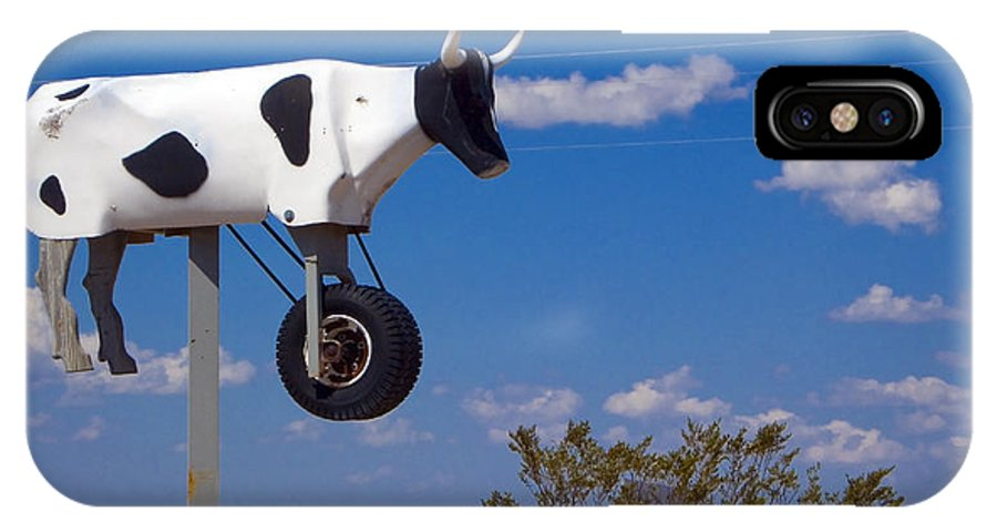 Cow IPhone X Case featuring the photograph Cow Power by Skip Hunt
