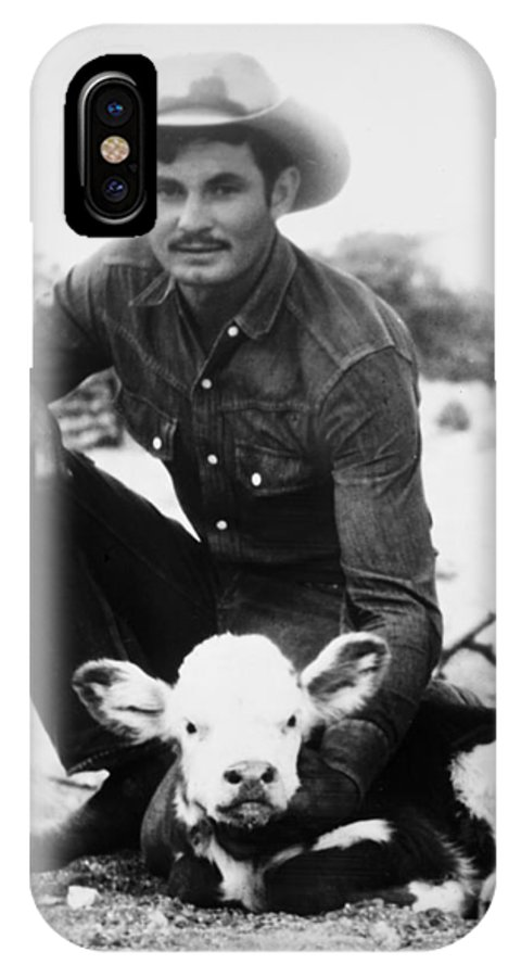 20th Century IPhone X Case featuring the photograph Cowboy, 20th Century by Granger