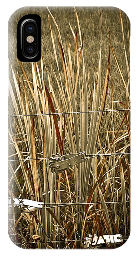 Americana IPhone X Case featuring the photograph Cowboy Fence by Marilyn Hunt