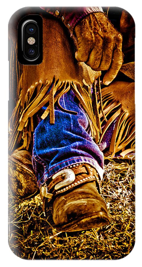 Cowboy IPhone X Case featuring the photograph Cowboy Gold by Toni Hopper