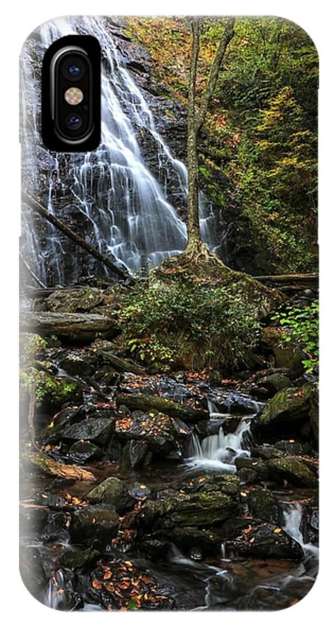 Crabtree Falls IPhone X Case featuring the photograph Crabtree Falls In Autumn by Carol Montoya