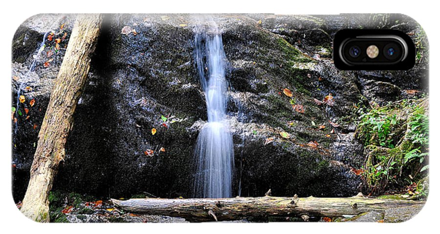 Crabtree Falls IPhone X Case featuring the photograph Crabtree Falls In Fall by Todd Hostetter