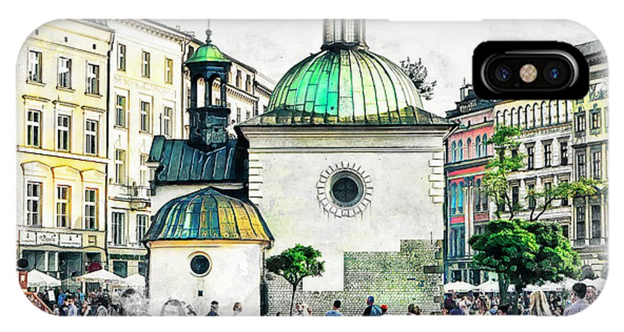 Cracow IPhone X Case featuring the digital art Cracow Art 3 by Justyna JBJart
