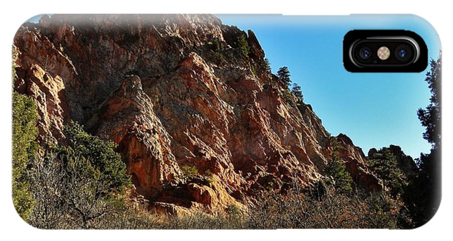 Colorado IPhone X Case featuring the photograph Craggy Sandstone by CL Redding