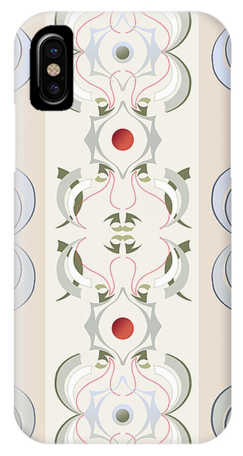 Beige IPhone X Case featuring the digital art Crane by Ceil Diskin