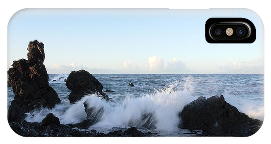 Waves IPhone X Case featuring the photograph Crashing Wave by Phil Crean