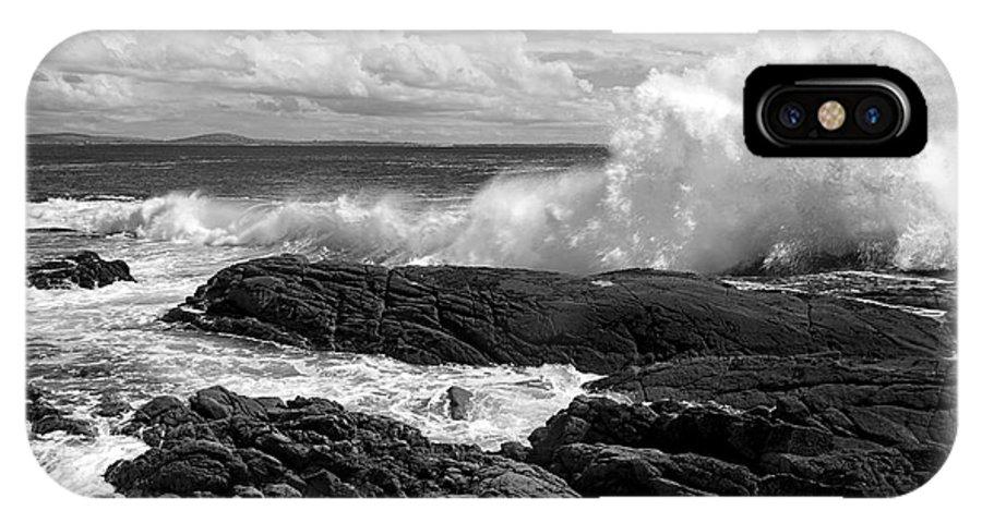 Crashing Wave IPhone X Case featuring the photograph Crashing Wave Roundstone Ireland by Pierre Leclerc Photography