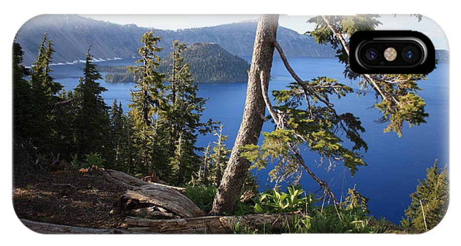 Crater Lake IPhone X Case featuring the photograph Crater Lake 9 by Carol Groenen