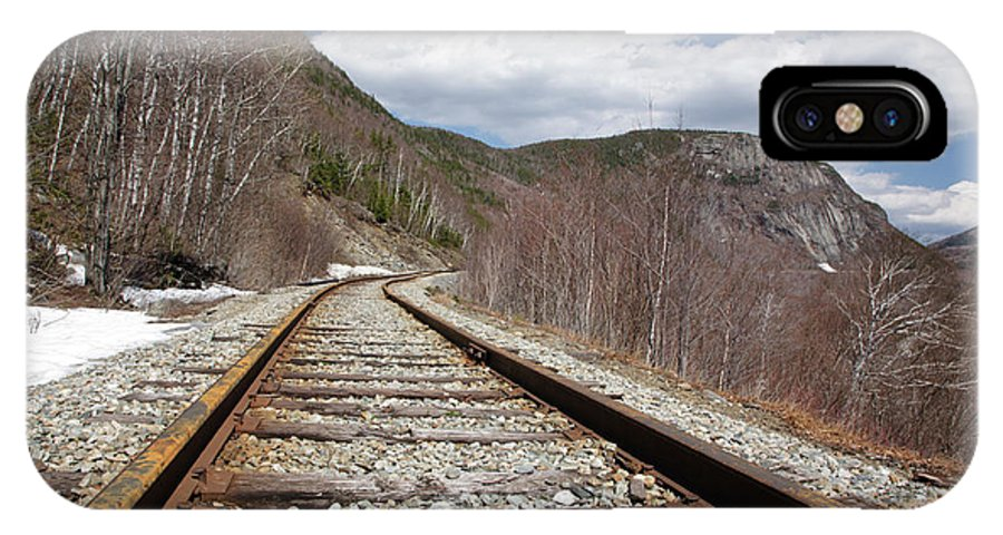 White Mountains IPhone X Case featuring the photograph Crawford Notch State Park - Maine Central Railroad by Erin Paul Donovan