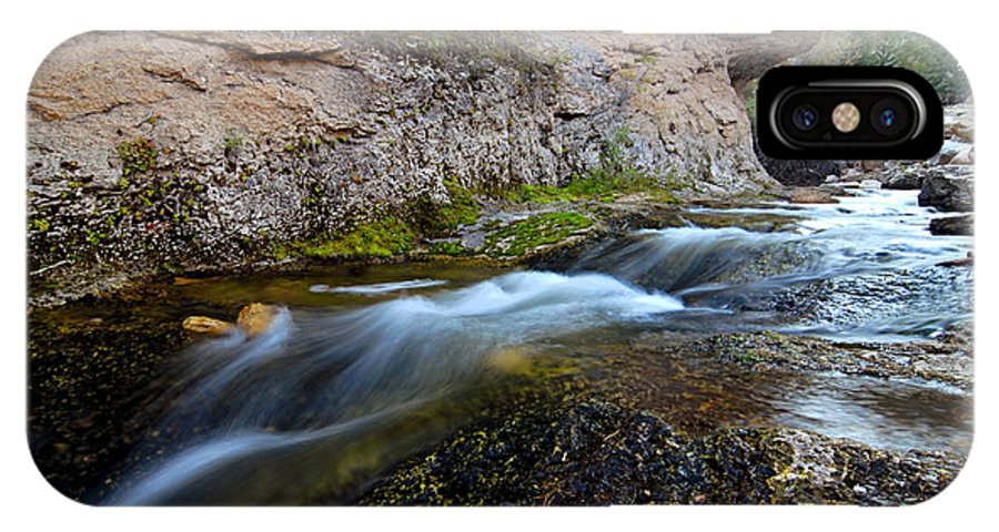 Crazy Woman Creek IPhone X Case featuring the photograph Crazy Woman Creek by Larry Ricker