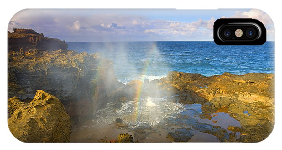 Blowhole IPhone Case featuring the photograph Creating Miracles by Mike Dawson