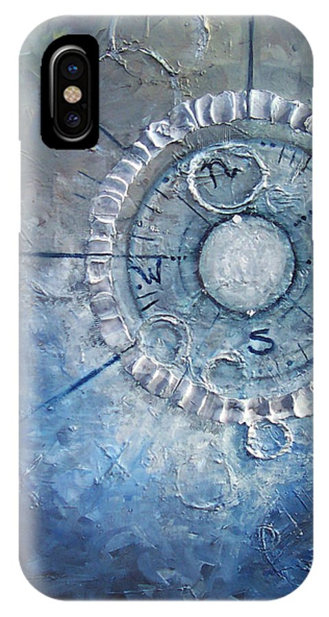 Contemporary IPhone X / XS Case featuring the painting Creation by Laura Sherrill