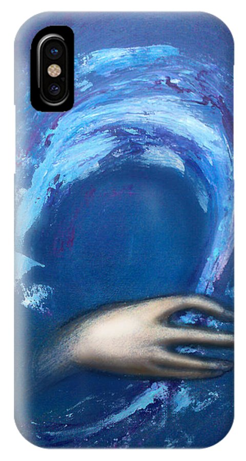 Creative IPhone X Case featuring the painting Creative Inspiration by Kevin Middleton