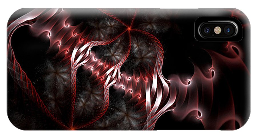 Fractal IPhone X Case featuring the digital art Creatures Of The Deep by Amorina Ashton