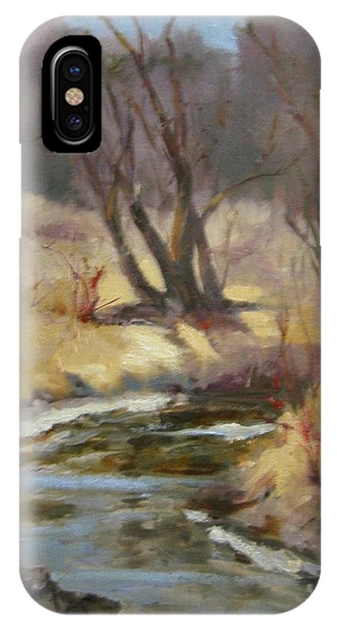 Plein Air Landscape IPhone Case featuring the painting Credit River by Patricia Kness