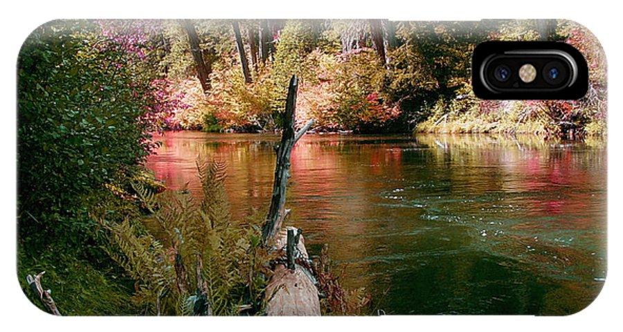 Fall Season IPhone X Case featuring the photograph Creek Fall by Peter Piatt