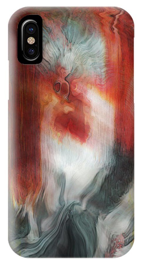 Abstract Art IPhone X Case featuring the digital art Creep by Linda Sannuti