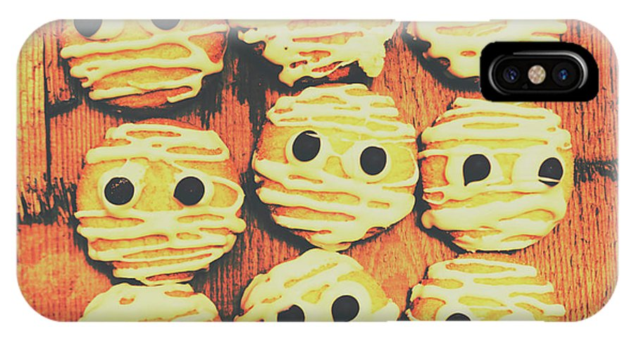 Sweet IPhone X Case featuring the photograph Creepy And Kooky Mummified Cookies by Jorgo Photography - Wall Art Gallery