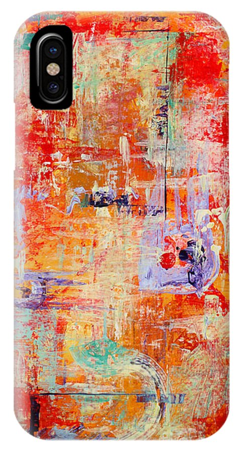 Large Format Painting IPhone X Case featuring the painting Crescendo by Pat Saunders-White