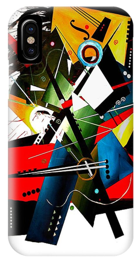 Abstract IPhone X Case featuring the painting Crescendo by Vel Verrept