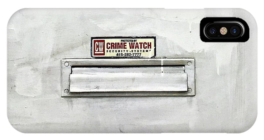 IPhone X Case featuring the photograph Crime Watch Mailslot by Julie Gebhardt